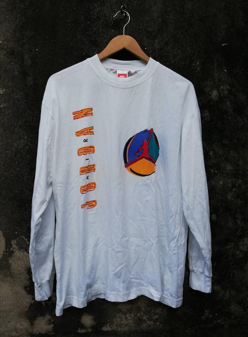 8a2b744a9638f Vintage Nike Air Jordan Fly Color Block Long Sleeve T-shirt multicolor  colorway