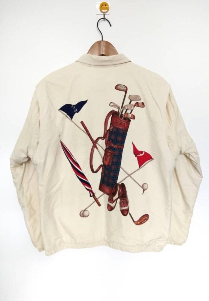 2027ae2734 Rare Vintage 90s Polo Ralph Lauren Big Golf Kit Image Stadium
