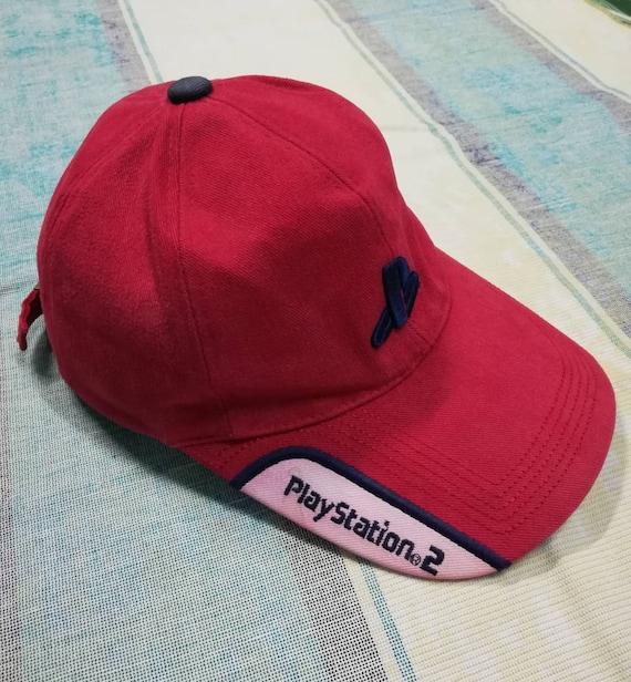 16c3c6d1c5b Vintage PlayStation 2 PS2 Navy Strap Back Hat Cap video games