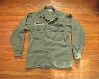 8dfea71476d Medium 60s US Army 100% Cotton OG 107 Field Shirt   Named