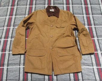 8cc6f80df0e01 Medium 60s Sears Brown Duck Canvas Hunting Jacket / Chore Coat, Work Wear,  1960s, Shooting Jacket, Padded Shoulder