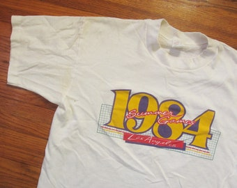 d38832b959c Large 80s Los Angeles Olympics T-shirt   1984