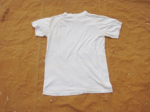 XS / Small 70s Raglan Blank White T-shirt / Poly … - image 8