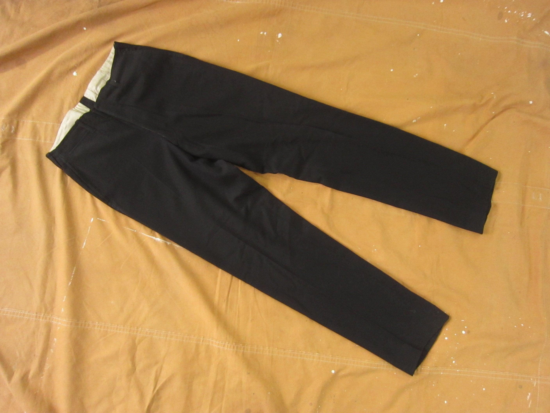 1940s Mens Ties | Wide Ties & Painted Ties 30 X 31 30S40S Wool Formal Tuxedo Trousers Black Wool, Mens Suit Pants, 1930S 1940S 40S, Flat Front, 29 Small Slim $0.00 AT vintagedancer.com