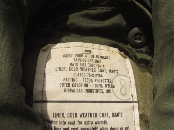 Large 70s Alpha Industries US Army M-65 Field Jac… - image 7