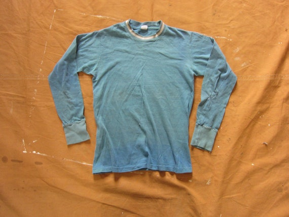 XS 50s / 60s Cotton Long Sleeve T-shirt / Youth Si