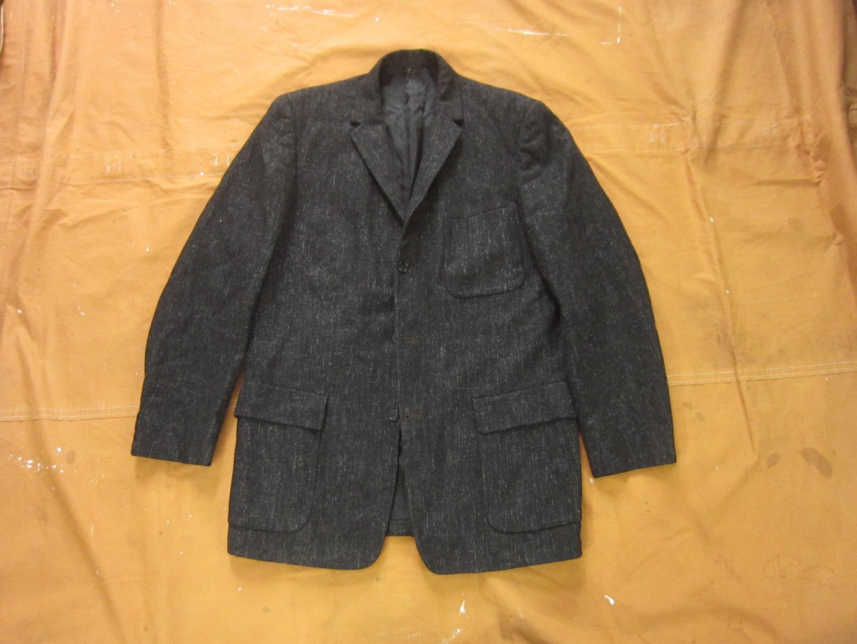 1940s Mens Ties | Wide Ties & Painted Ties Medium 40S50S Fleck Wool Sports Coat Gray Grey Black Flecked, Blazer, Suit Coat, Size 40 $0.00 AT vintagedancer.com