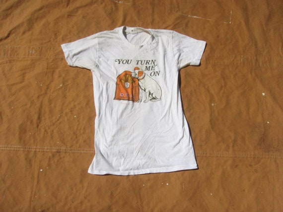 Small 70s Nipper The Dog T-shirt / RCA Records, Ol