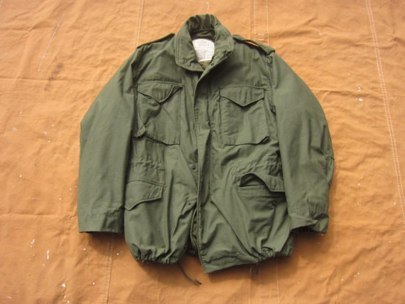 Large 70s Alpha Industries US Army M-65 Field Jac… - image 1
