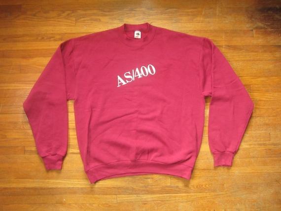 XL 80s / 90s IBM AS/400 Sweatshirt / Crew Neck, Cr