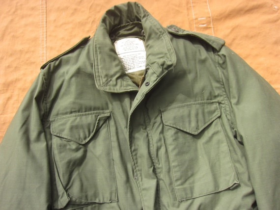 Large 70s Alpha Industries US Army M-65 Field Jac… - image 2