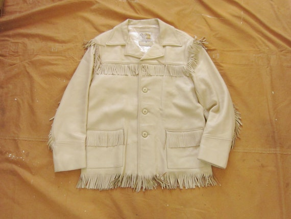 Medium / Size 42 70s Deerskin Fringe Jacket / Midw