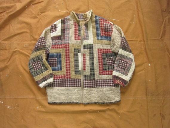 Large 80s Quilt Jacket / Blanket Coat, Quilted, 19