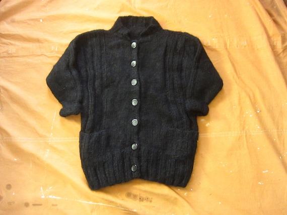 Large 80s Oversized Chunky Handmade Mohair Wool Ca