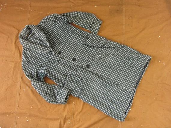 Large 50s Whittenton Flannel Bathrobe / Plaid Jacq