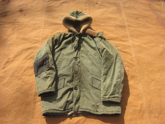 Large 40s / 50s Civilian B-9 Parka / B9 Hooded Jac