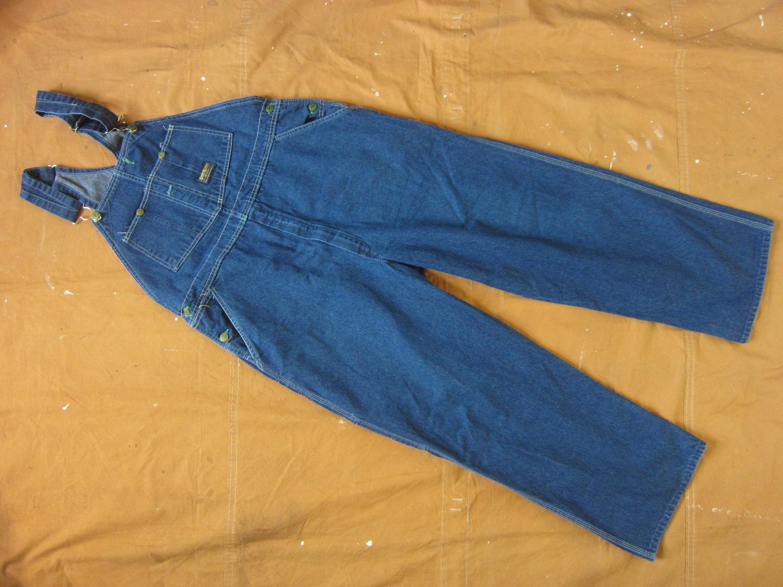 Vintage Overalls & Jumpsuits 40 X 2830 80S Osh Kosh Dark Blue Denim Overalls Farmer, Jeans, 1980S, Made in Usa, Xl $0.00 AT vintagedancer.com