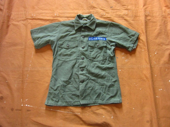 Medium 60s US Army OG-107 Field Shirt / Short Slee