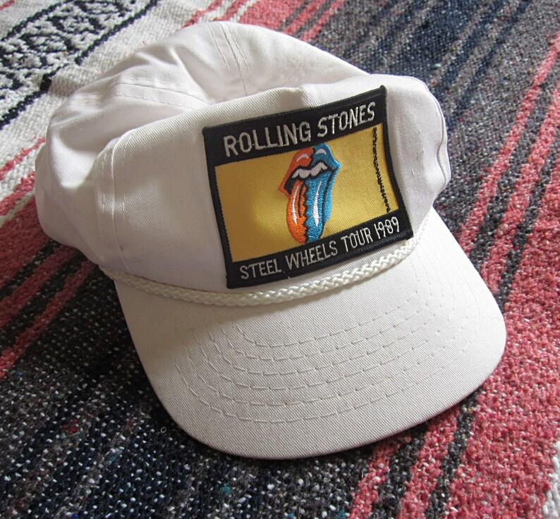 2b764c7a020 Rolling Stones 1989 Steel Wheels Tour Baseball Hat   Snapback