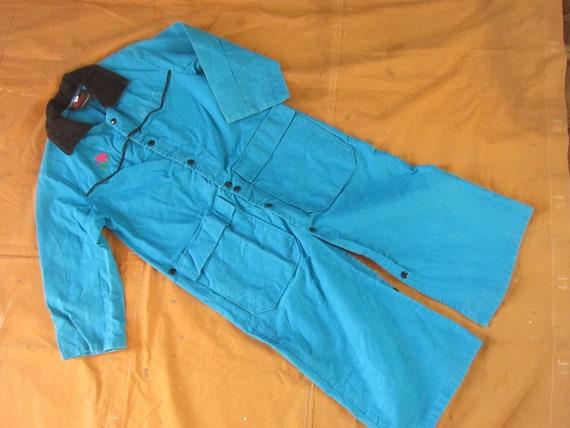 XS 80s Canvas Duster Coat / Rancher, Ranch Coat, T