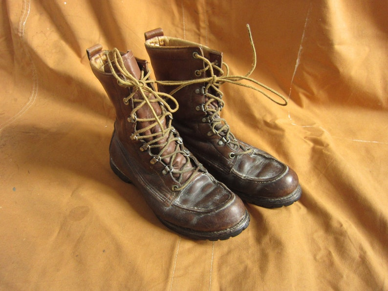 Black Lug Sole Size Men/'s 8.5  Women/'s 9.5  10 70s Red Wing Irish Setter Work Boots  Moc Toe Brown Narrow A Width 9 9.5 Ankle Boots