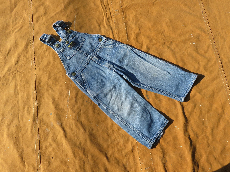 Vintage Overalls & Jumpsuits Size 3T Childrens 80S Osh Kosh Denim OverallsBlue, Faded, Boys Childs Kids, Toddler, Jeans, 1980S $0.00 AT vintagedancer.com