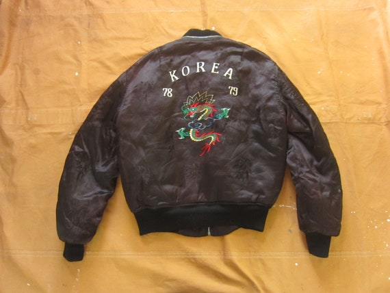 Medium 70s Korea Souvenir Jacket / Korean, US Army
