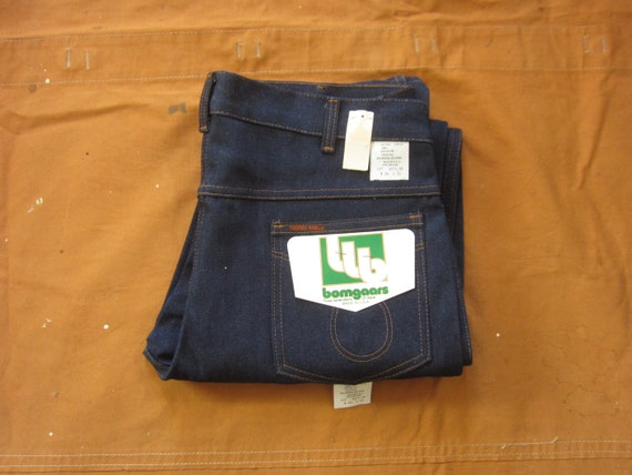 34 x 32 80s Deadstock Saddle King Jeans / Raw, Dar
