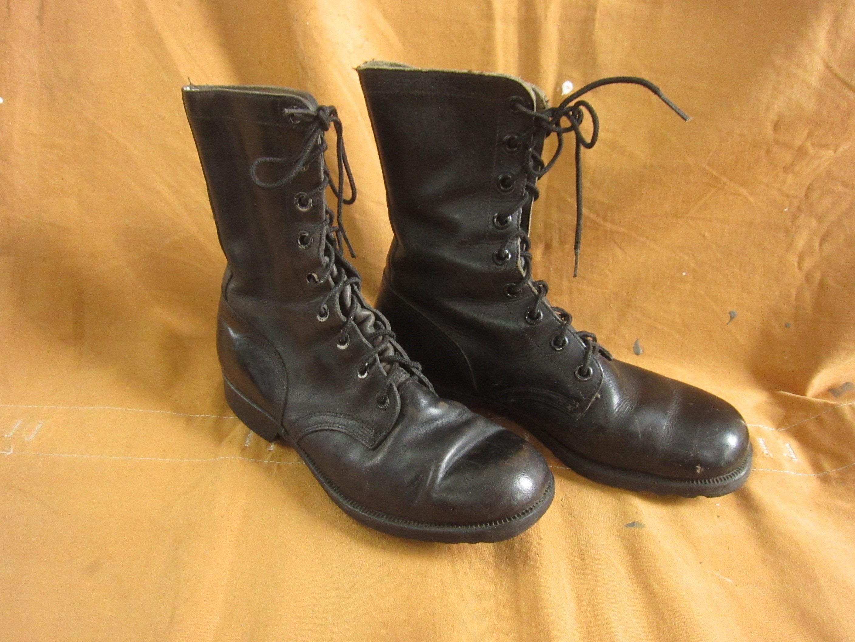1960s – 70s Men's Ties | Skinny Ties, Slim Ties Mens 9 R 60S Us Army Combat BootsZig Zag Sole, Black Leather, 1960S Vietnam Military 9.5 $0.00 AT vintagedancer.com