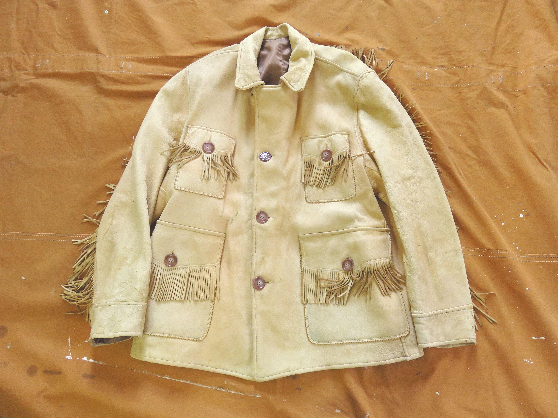 1960s – 70s Men's Ties | Skinny Ties, Slim Ties LargeXl 60S 70S Cream Leather Fringe Jacket 1960S 1970S 70S, Work Wear Motorcycle Jacket, Distressed $250.00 AT vintagedancer.com