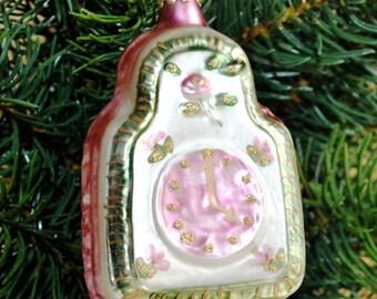 Weisses Herz Aus Glas Weihnachtskugel Im Landhausstil Etsy