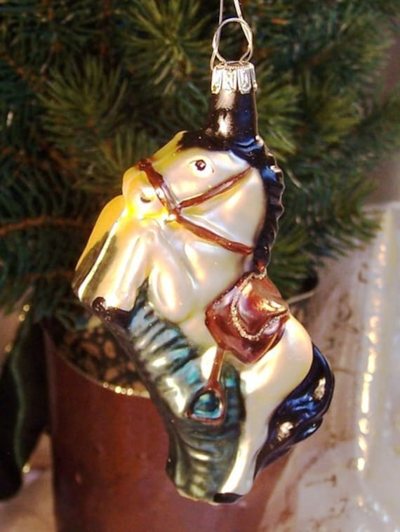 Christmas Horse Decorations.A Glass Horse Christmas Tree Decorations From Lauscha Traditional Tree Decorations For The Feast