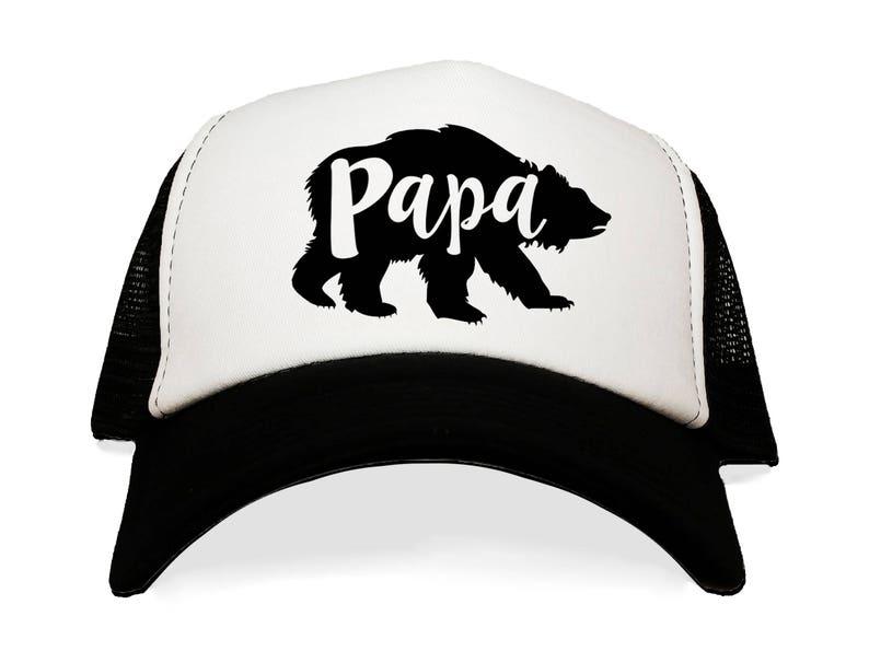 ec23fcea9b07e Papa Bear Trucker Hat. New Father Gift Idea. Baseball Caps.