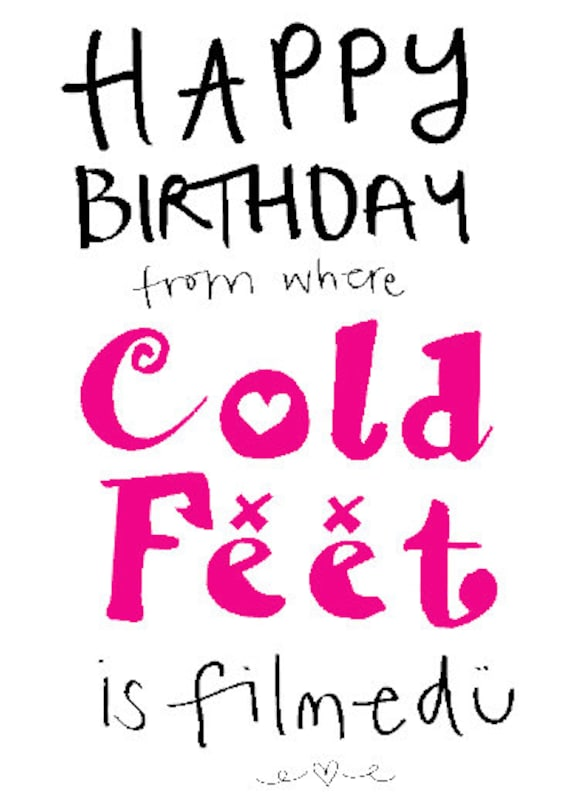 Happy Birthday from where Cold feet is filmed - (Manchester) this can be personalised as well