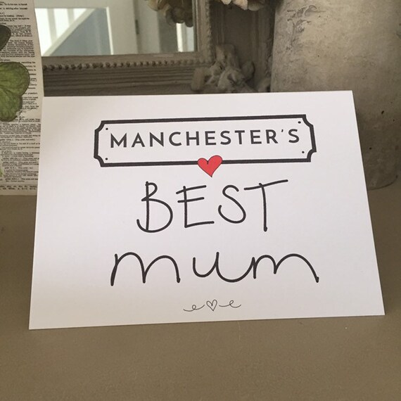 Any Locations BEST Mum, mother's day, Husband, Partner, Girlfriend boyfriend Valentines personalised greeting card
