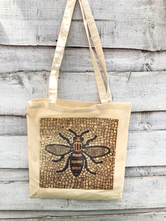 Manchester Mosaic Bee Tote Bag