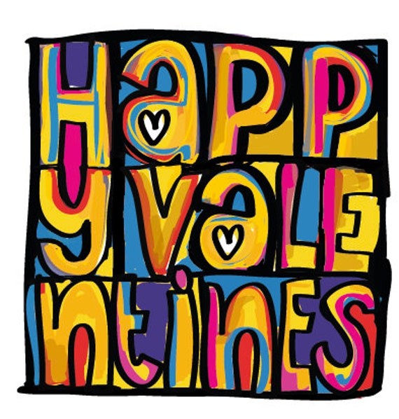 Happy Mondays inspired Valentines Greeting Card that can be personalised