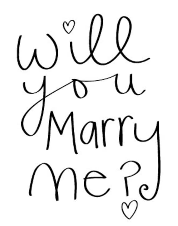 Will You Marry Me Valentines Wedding Greeting Card