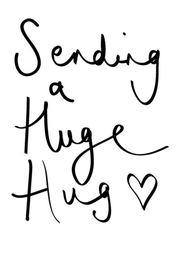 Sending you a huge hug greeting card for someone who needs cheering up