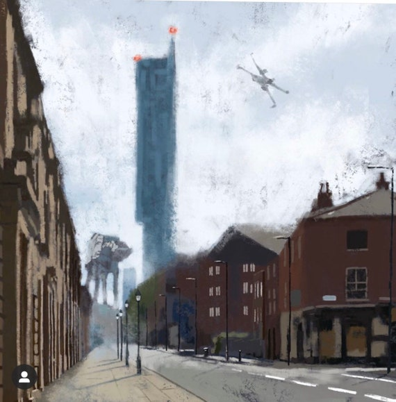 Manchester Strikes Back Digital Painting