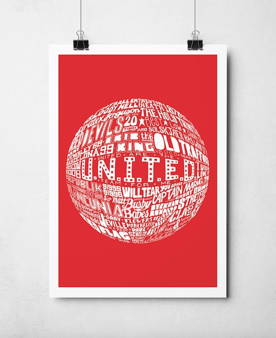 Manchester United Football Print