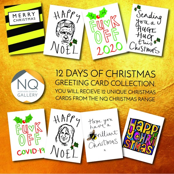 12 Days of Christmas NQ Greeting Card collection (includes 12 greeting cards)