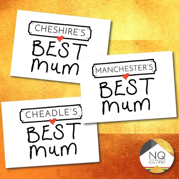 Any Locations BEST Mum, mother's day personalised greeting card