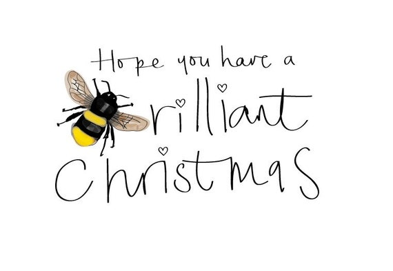 Manchester bee Bee-rilliant christmas Greeting Cards with personalisation