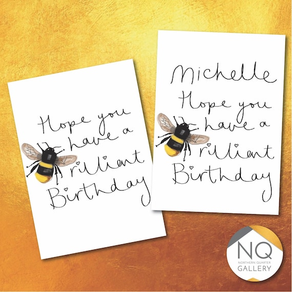 Brilliant Birthday Greeting card that can be personalised