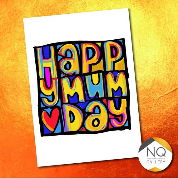 Happy Mum Day Mother's Day Greeting Card