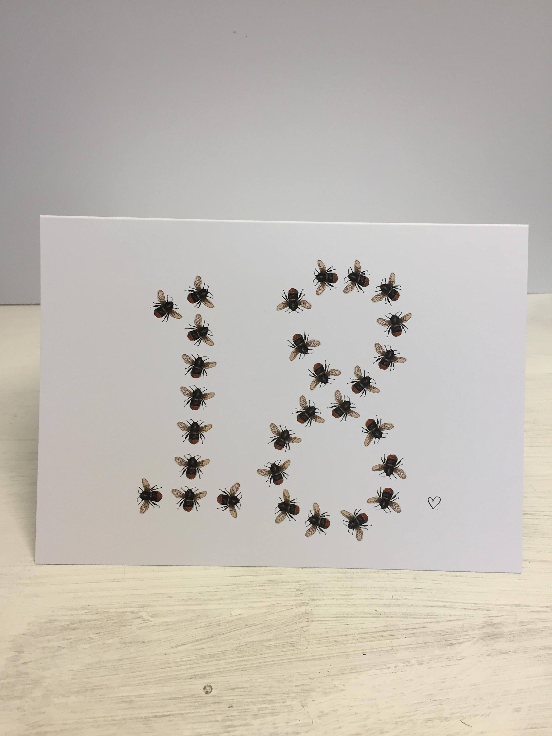 Manchester bee inspired number and letter birthday greeting cards m4hsunfo