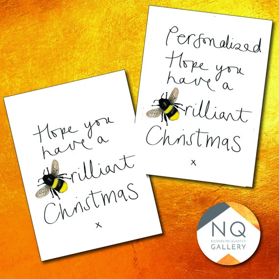 Bee-rilliant Christmas Greeting Cards