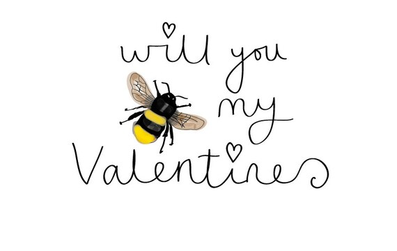 Will you Be my valentines Greeting card that can be personalised