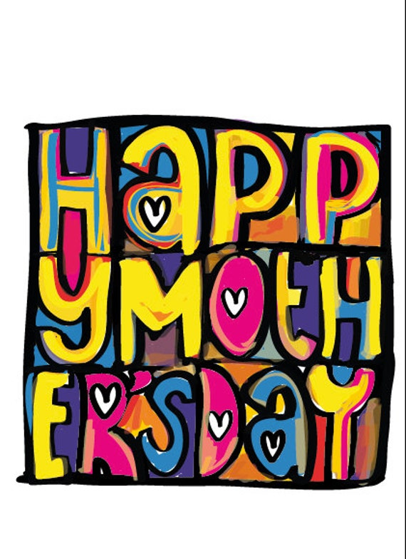 Happy Mondays inspired Mother's Day Greeting Card